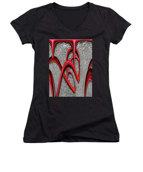 The Monday Lipstick Caper Women's V-Neck T-Shirt