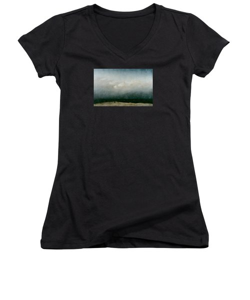 Monk By The Sea  Women's V-Neck