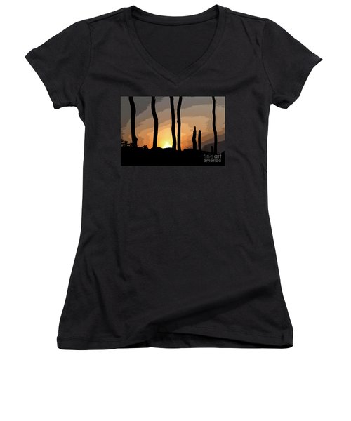 The New Dawn Women's V-Neck (Athletic Fit)
