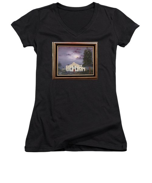 The Night Before Women's V-Neck T-Shirt (Junior Cut) by Al Johannessen