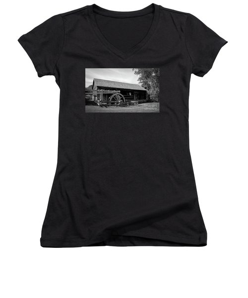 The Old Grist Mill, Vermont Women's V-Neck T-Shirt