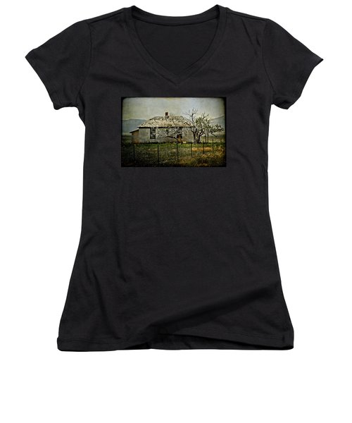 The Old House Women's V-Neck (Athletic Fit)