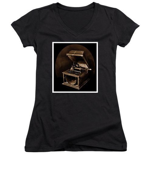 The Old Victrola Women's V-Neck