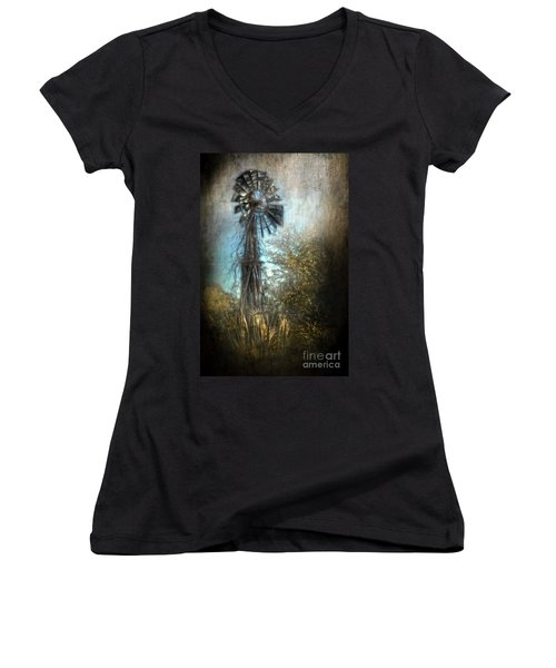The Old Windmill Women's V-Neck