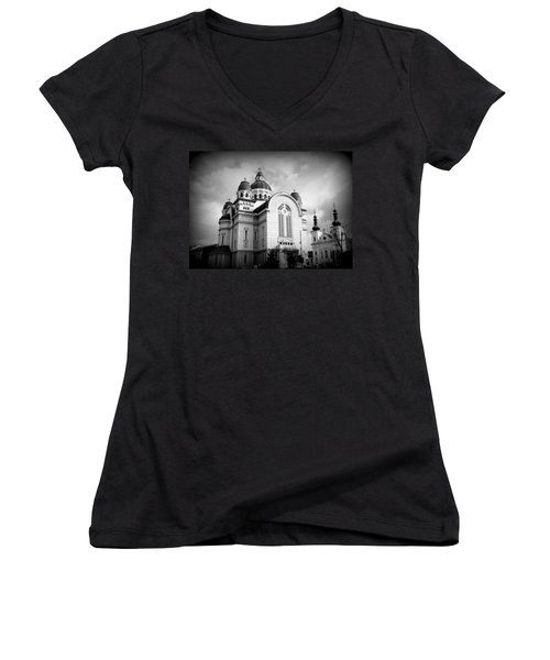 The Orthodox Cathedral And The Saint John The Baptist Church Women's V-Neck T-Shirt