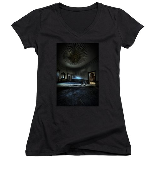The Oval Star Room Women's V-Neck T-Shirt (Junior Cut) by Nathan Wright