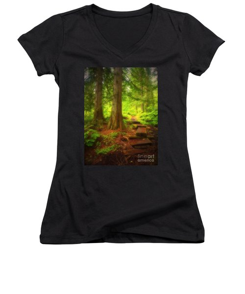 The Path Through The Forest Women's V-Neck