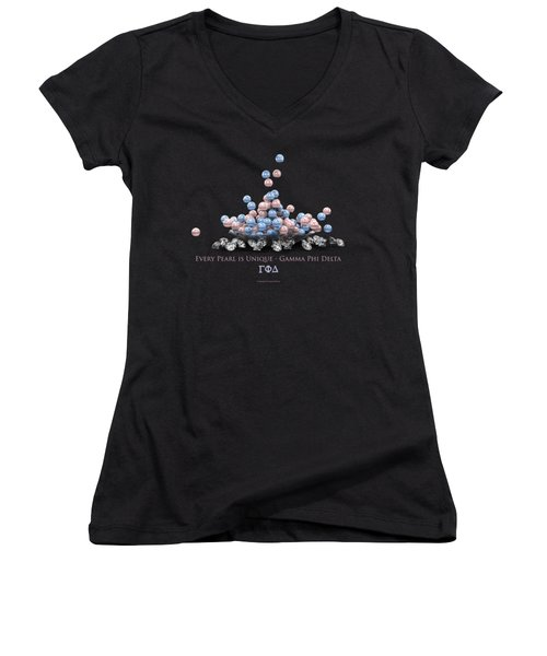 The Pearls Of Gamma Phi Delta Women's V-Neck (Athletic Fit)