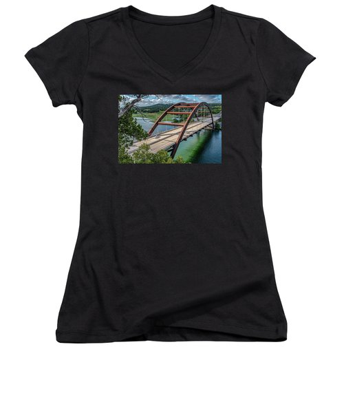 The Pennybacker Bridge Women's V-Neck