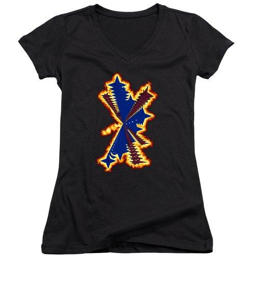 The Phoenix Women's V-Neck T-Shirt (Junior Cut) by Cathy Harper