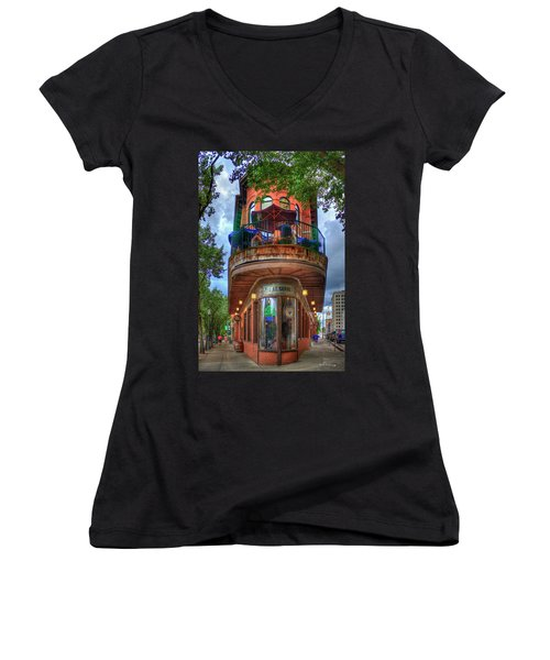 The Pickle Barrel Chattanooga Tn Art Women's V-Neck (Athletic Fit)