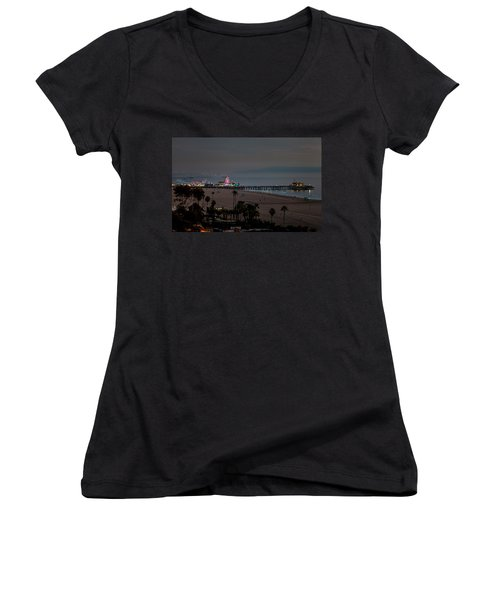 The Pier After Dark Women's V-Neck (Athletic Fit)