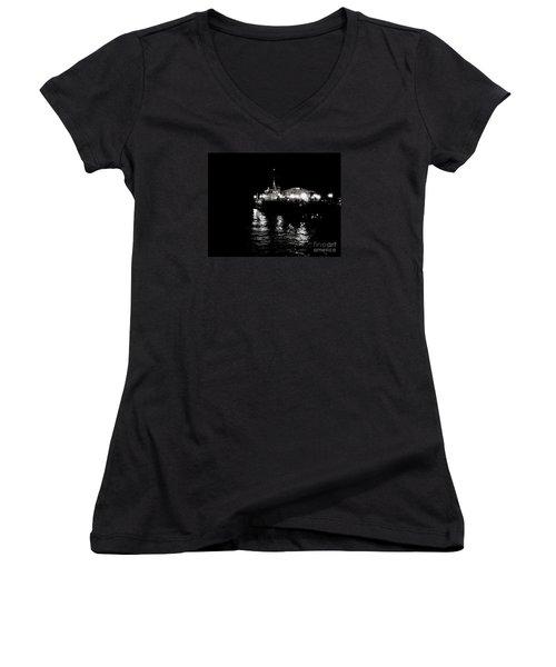 The Pier Women's V-Neck T-Shirt (Junior Cut) by Vanessa Palomino
