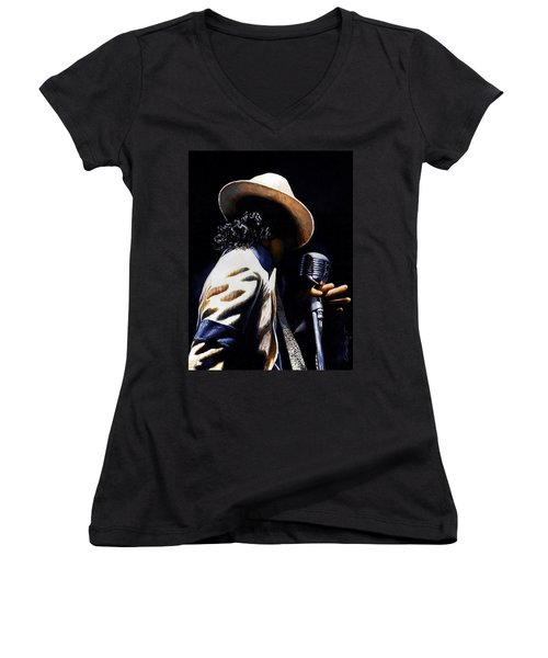 The Pop King Women's V-Neck (Athletic Fit)