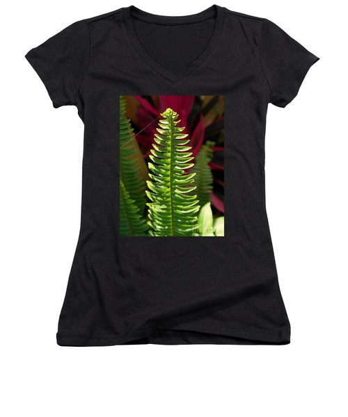 Women's V-Neck T-Shirt (Junior Cut) featuring the photograph The Power Of One by Irma BACKELANT GALLERIES