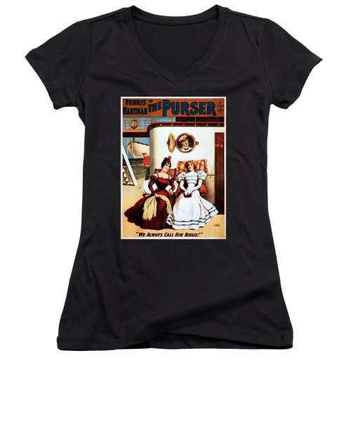 The Purser, Theatrical Poster, 1898 Women's V-Neck (Athletic Fit)