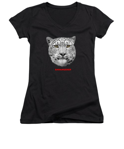 The Red List Women's V-Neck T-Shirt (Junior Cut) by Linsey Williams