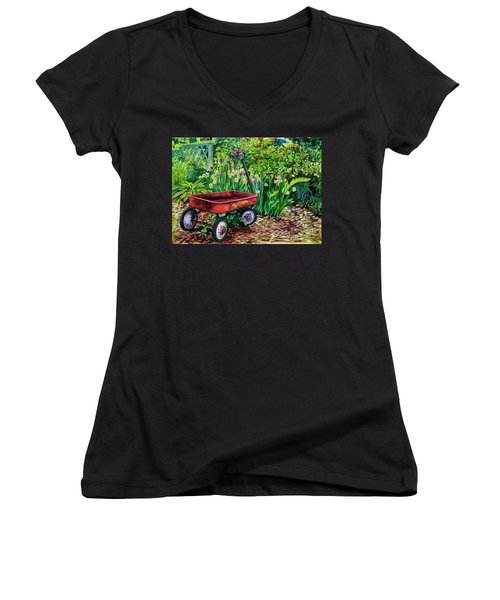 The Red Wagon Women's V-Neck T-Shirt