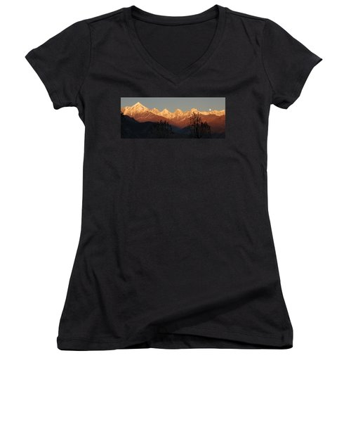 The Rendezvous. A Panorama. Women's V-Neck T-Shirt (Junior Cut) by Fotosas Photography