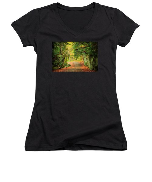 The Road To The Mill  Women's V-Neck
