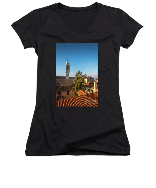 The Roofs Of Venice Women's V-Neck