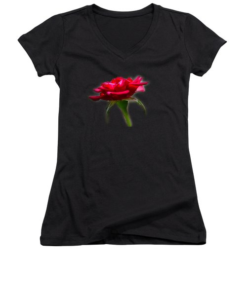 The Rose  Tee-shirt Women's V-Neck T-Shirt (Junior Cut) by Donna Brown