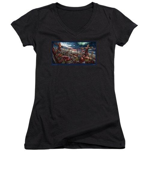 The Sacrifice Women's V-Neck T-Shirt (Junior Cut) by Tony Koehl