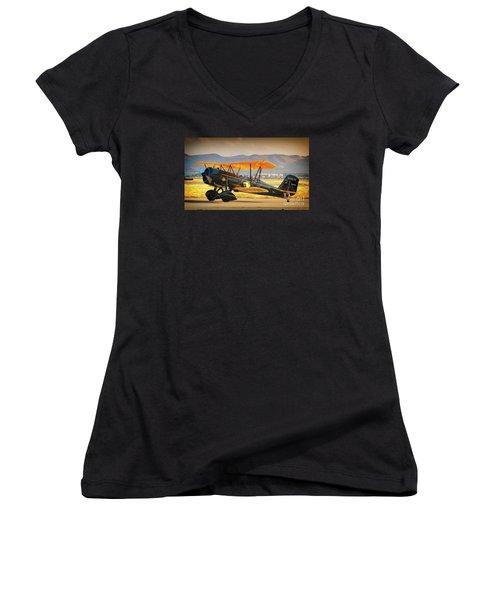 The Scott Familys 1929 Stearman  Version 2 Women's V-Neck T-Shirt