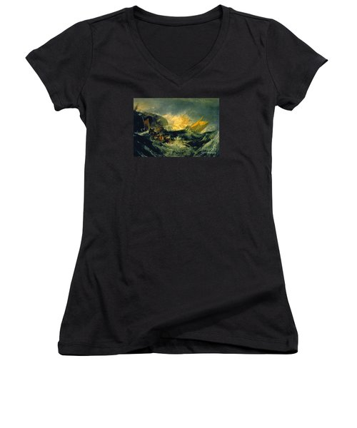 The Shipwreck Of The Minotaur Women's V-Neck (Athletic Fit)
