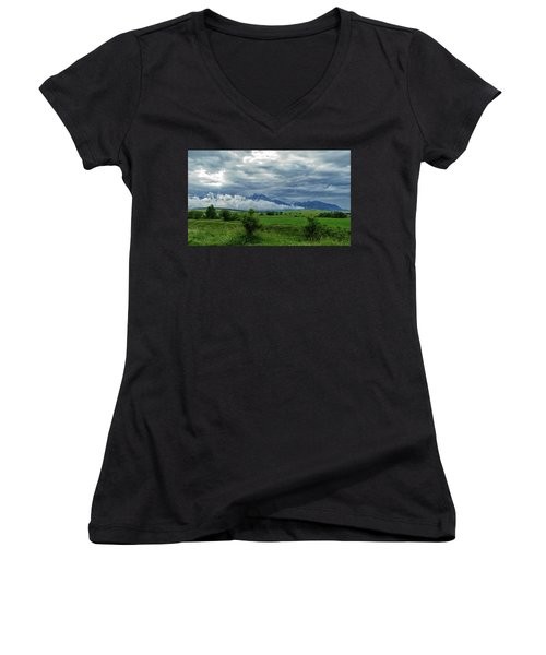 The Sky Has Fallen Women's V-Neck (Athletic Fit)