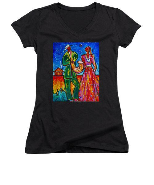 The Spirt Of Memphis Women's V-Neck T-Shirt