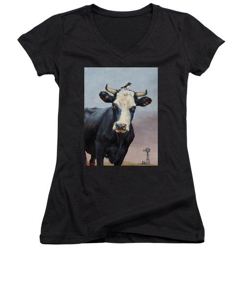 The Stare Women's V-Neck T-Shirt (Junior Cut)