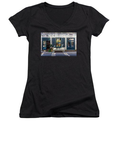 The Streets Of Charleston Women's V-Neck T-Shirt (Junior Cut) by Menachem Ganon