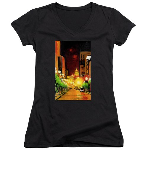 The Streets Run With Crimson And Gold Women's V-Neck