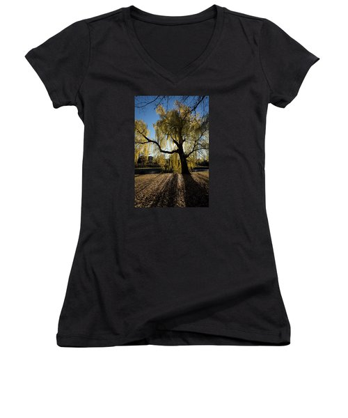 The Sun Goes Through Women's V-Neck (Athletic Fit)