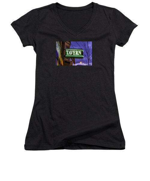 The Tavern On Lincoln Women's V-Neck T-Shirt