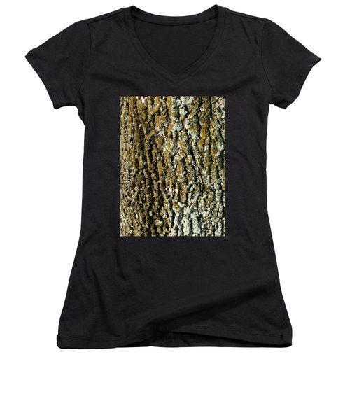 The Texture Is In The Trees2 Women's V-Neck T-Shirt