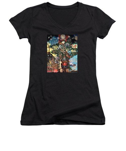The Tree Women's V-Neck T-Shirt (Junior Cut) by Emily McLaughlin