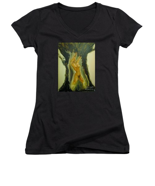 The Tree Oflife Women's V-Neck (Athletic Fit)