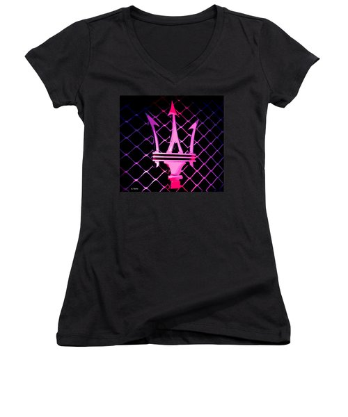 the Trident Women's V-Neck T-Shirt