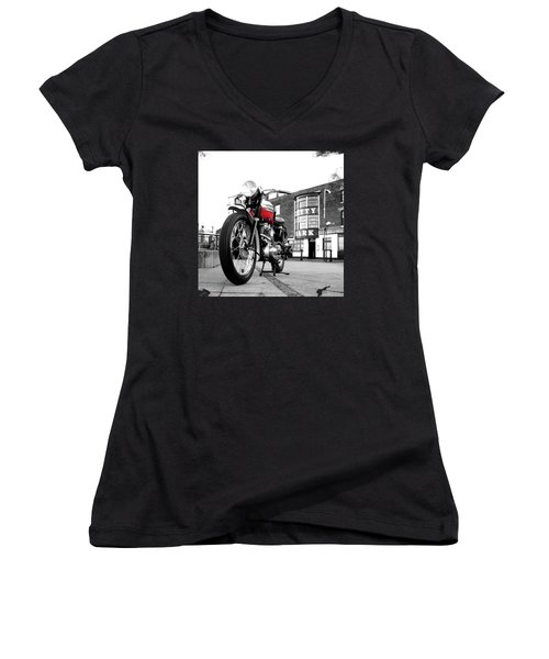 The Trophy Tr5 Motorcycle Women's V-Neck T-Shirt