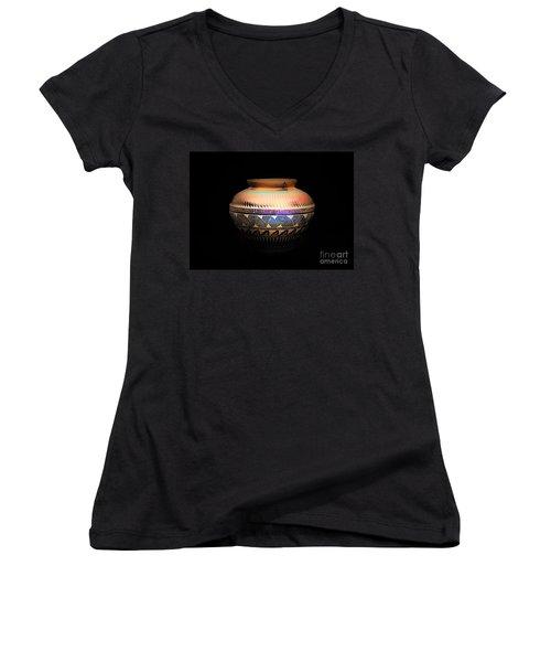 The Vase Of Joy Women's V-Neck T-Shirt (Junior Cut) by Ray Shrewsberry
