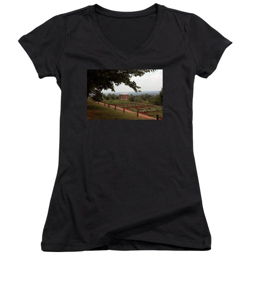 The Vegetable Garden At Monticello Women's V-Neck T-Shirt