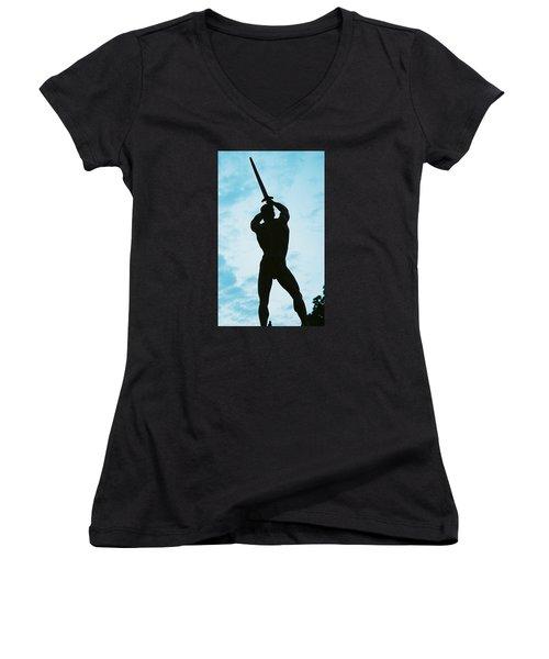 The Victor Women's V-Neck T-Shirt