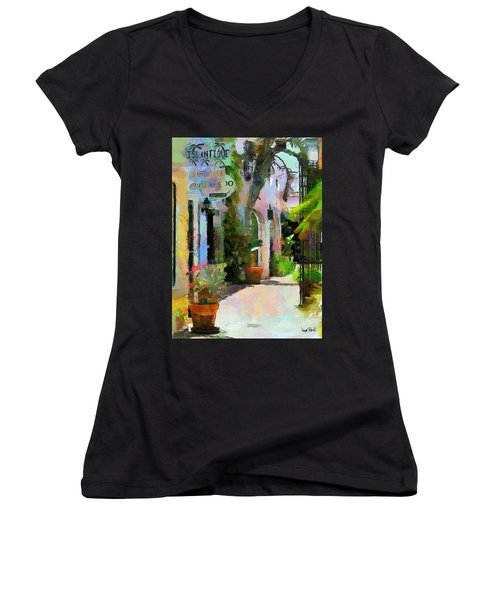 The Villa Women's V-Neck T-Shirt (Junior Cut)