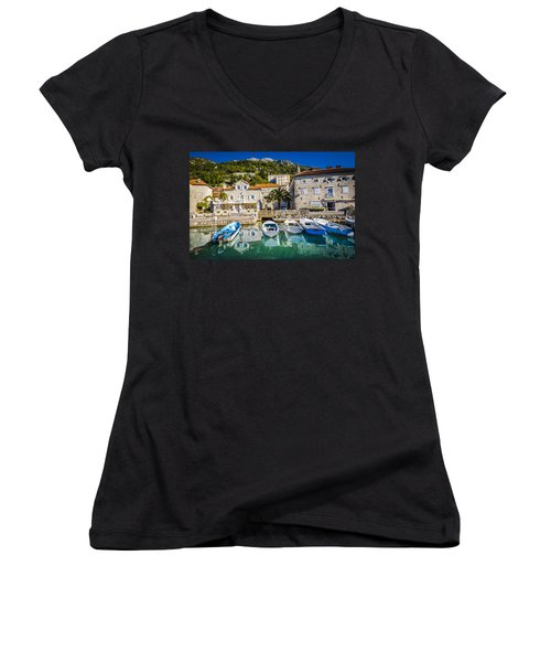 The Waiting Boats Women's V-Neck