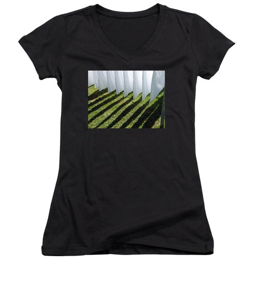 The Washing Is On The Line - Shadow Play Women's V-Neck