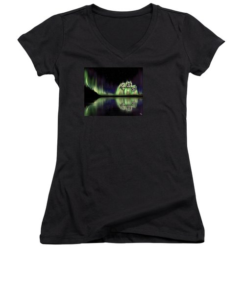 The Watchers Women's V-Neck (Athletic Fit)