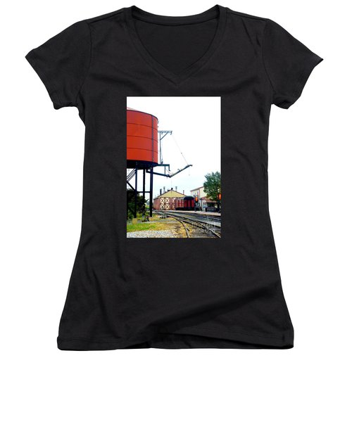 Women's V-Neck T-Shirt (Junior Cut) featuring the photograph The Water Tower by Paul W Faust - Impressions of Light