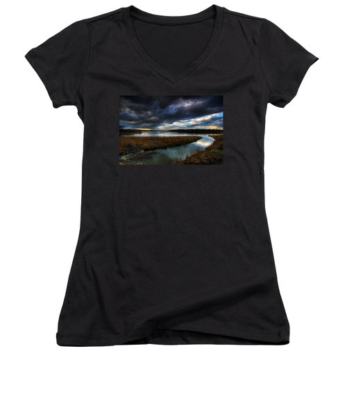 The Way Of The River Women's V-Neck (Athletic Fit)